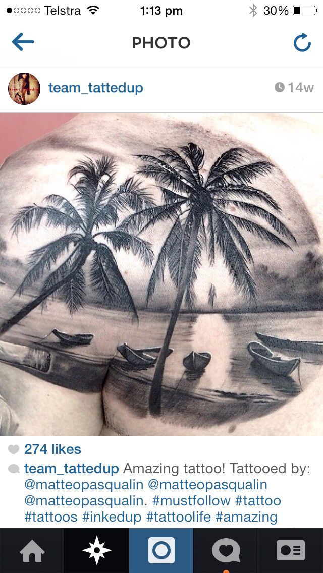 beach tattoo landscape tattoos pinterest tattoo landscape
