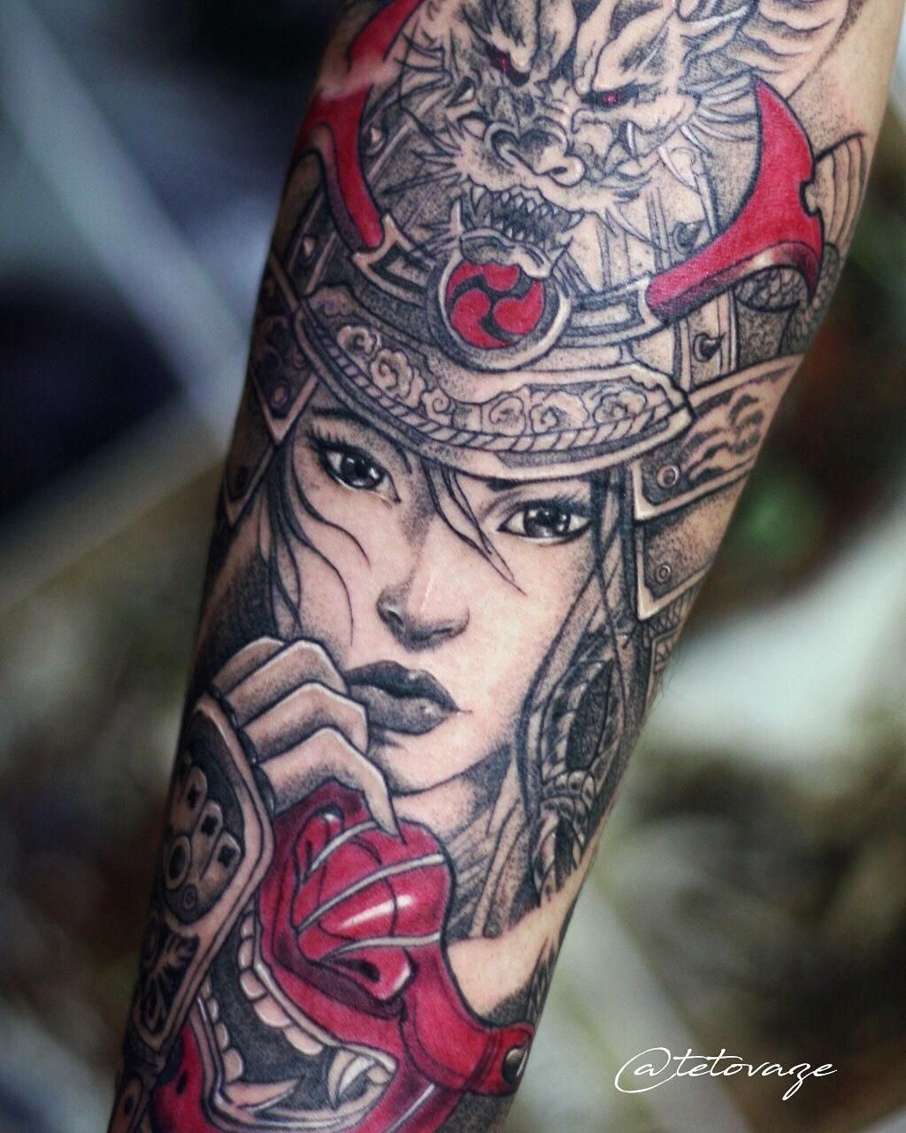 3d28979e3 Samurai tattoo Men tattoo Sleeve tattoo Samurai girl Tattoo design Unik  @tetovaze #Tattoosformen