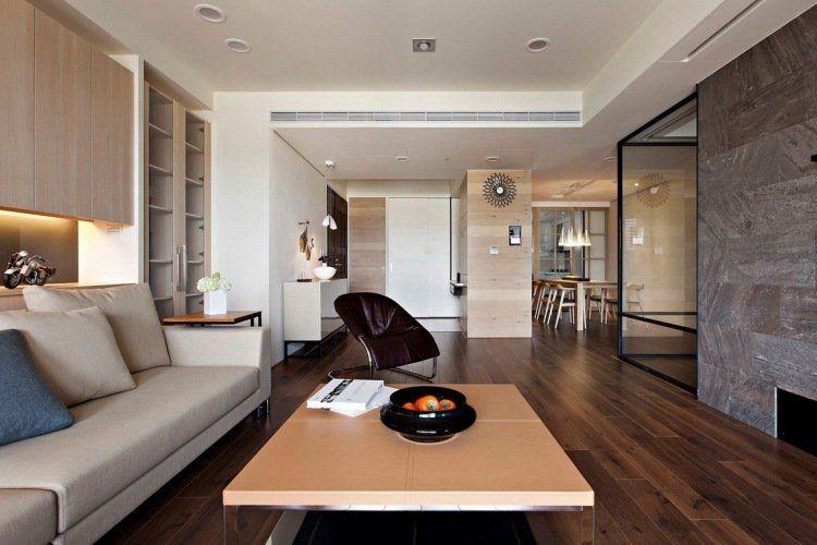 ide dco salon marron aux accents gris en 31 photos superbes - Deco Salon Luxueux Et Moderne Marron Et Noir