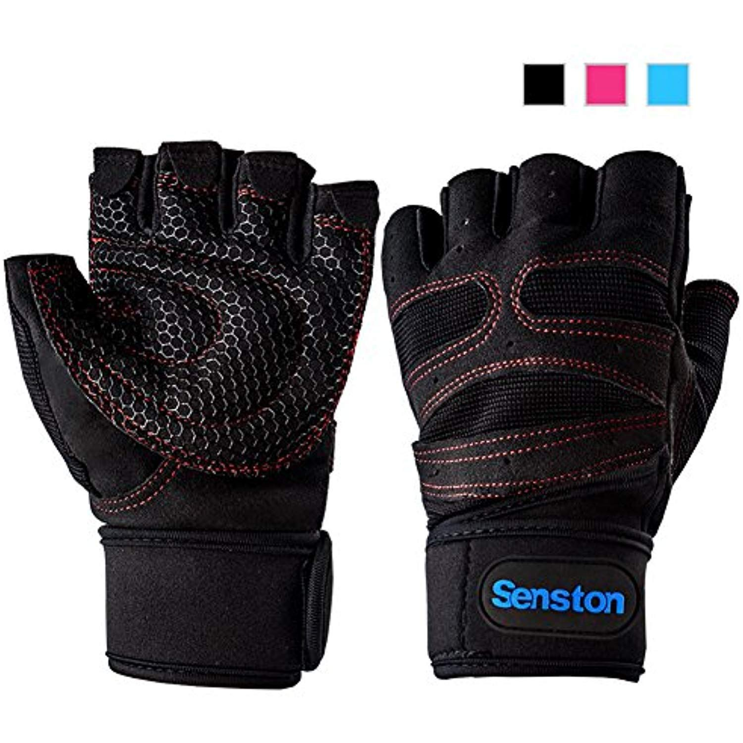Leather Wheelchair Fitness Training Wrist strap weight Lifting Fingerless Gloves