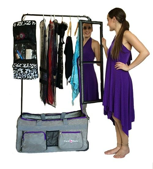 Dance Bag With Garment Rack Delectable Pack 2 Rack Rolling Foldable Dance Bag  Pinterest  Dancing Review