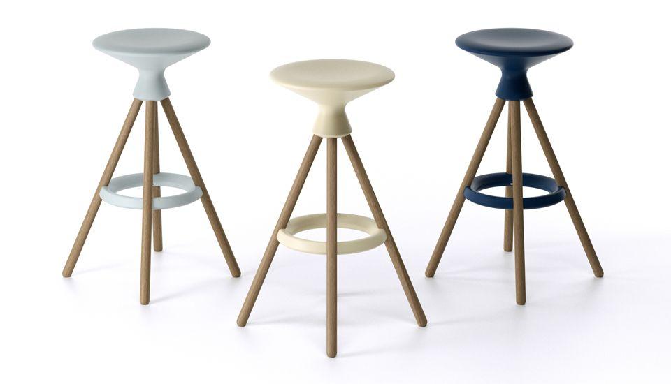 Plastic and wooden stool bulbil casegoods