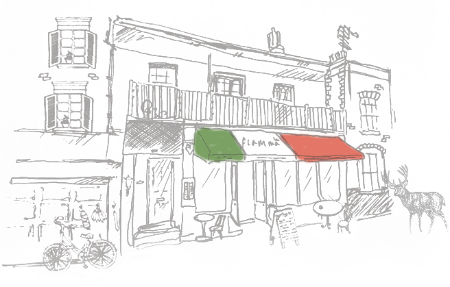 La Fiamma Italian Restaurant Male Sketch Sketches Diagram