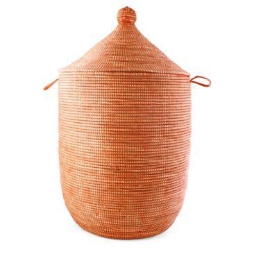 Check Out This Item At One Kings Lane Large African Prayer Mat Hamper Orange Hamper Decor Home