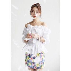 [픽키스트] korea fashion 셔링 밴딩 블라우스 - 23,200원 by 해피BOX