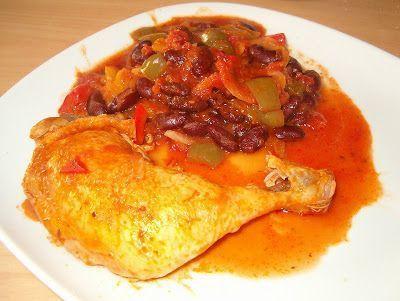 Une recette qui rappelle le chili tout en proposant une saveur originale avec le poulet. - Recette Plat : Poulet façon chili par Les recettes de nag