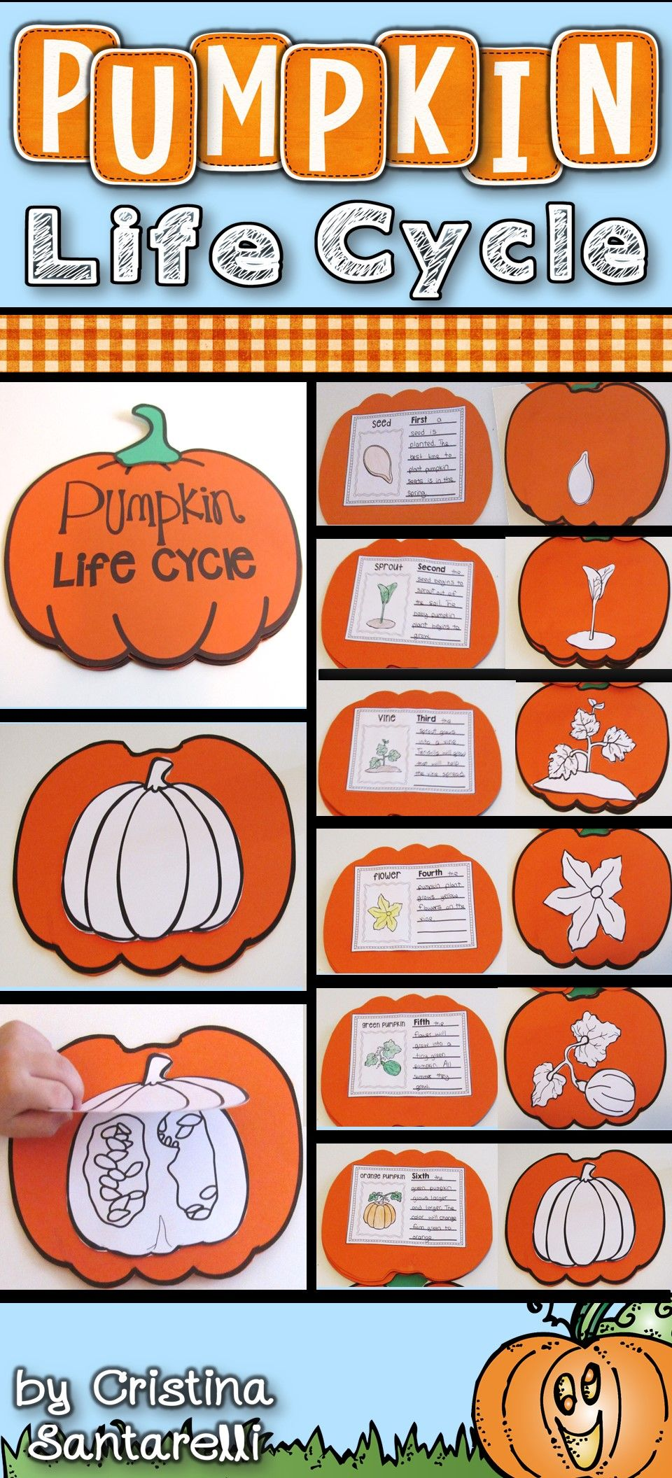This Pumpkin Life Cycle Craft And Activities Are Perfect For Your Pumpkins Fall Units In The Pumpk Pumpkin Activities Art Therapy Activities Pumpkin Lessons [ 2112 x 960 Pixel ]
