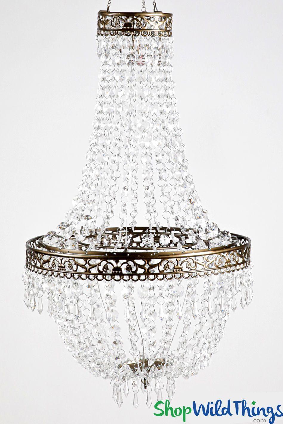 Chandelier Tillie Medium 14 W X 26 L Acrylic Crystal Beads