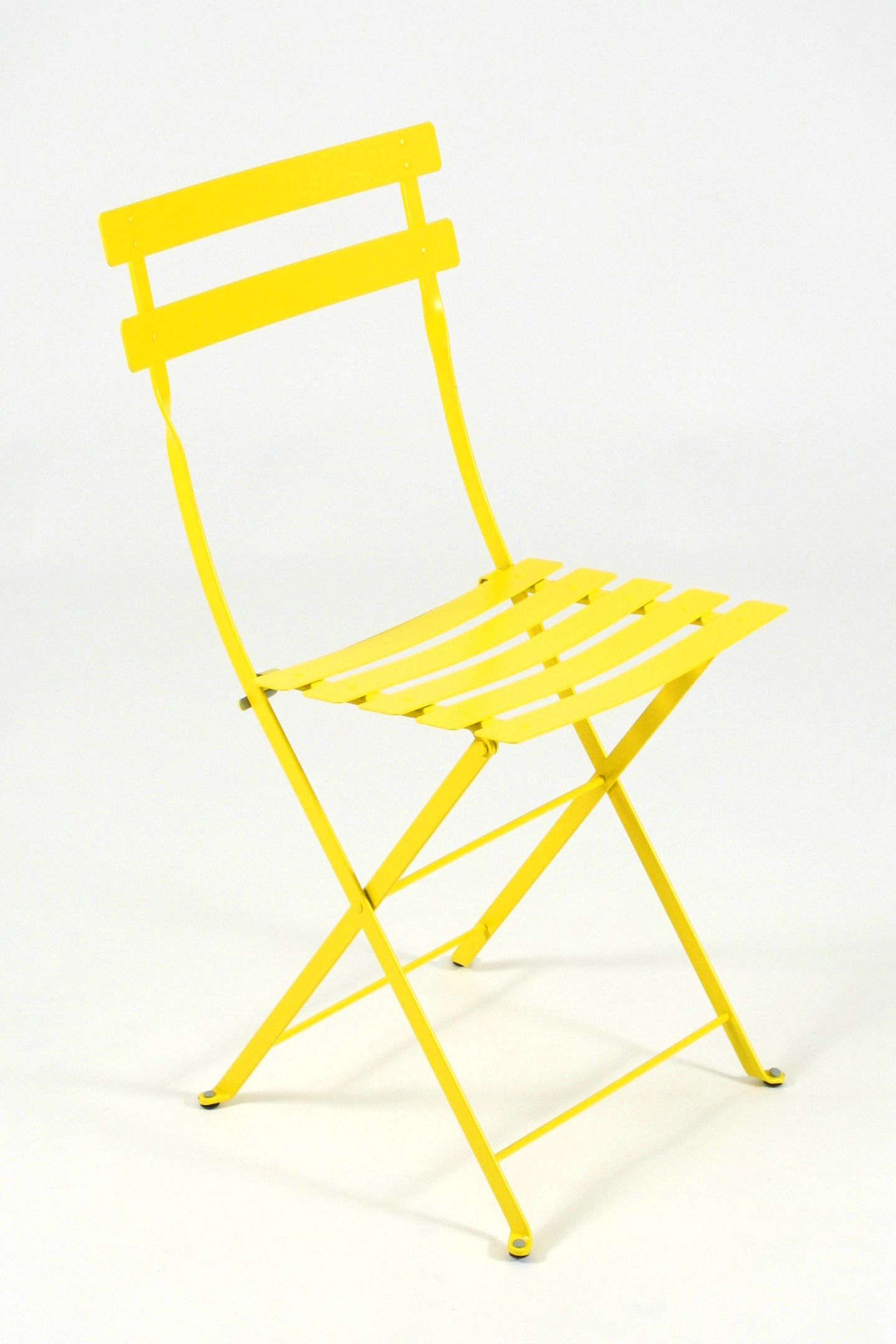 Yellow Color Typical French Bistro Chair From Fermob Find It At Platane Outdoor Patio Furniture Sets Patio Furnishings Iron Patio Furniture