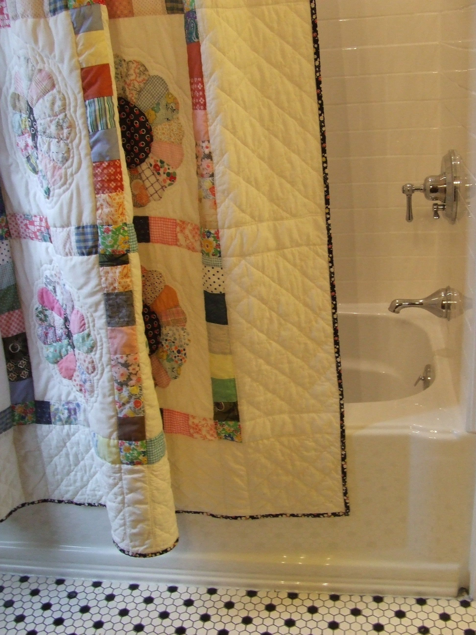 Shower Curtain Would Use A New Quilt Not Vintage One