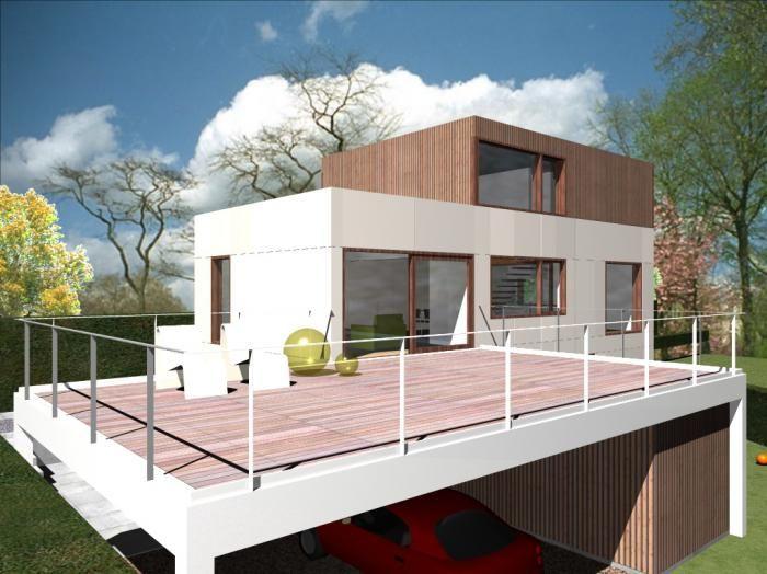 Verbouwing en uitbreiding gezinswoning beton woning pinterest interieurarchitectuur lofts - Uitbreiding huis glas ...