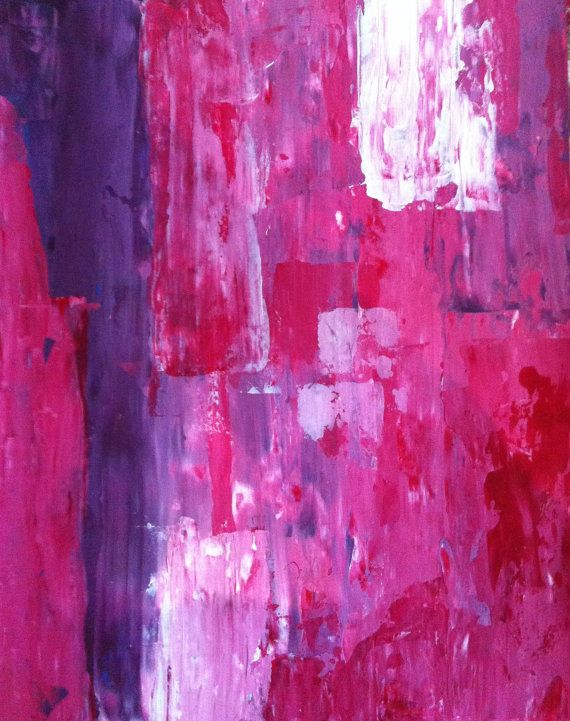 Abstract Art Painting Purple Pink and White on Etsy