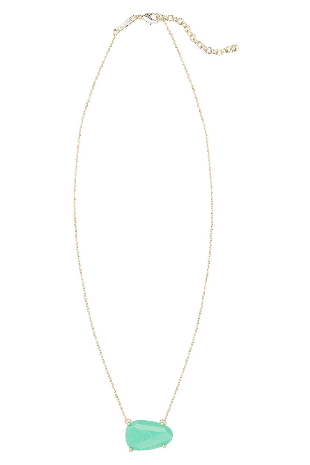 523936e62 Kendra Scott 'isla' Pendant Necklace, KS Jewelry Bag, Gold and Mint Green.  Get the lowest price on NEW! Kendra Scott 'isla' Pendant Necklace, KS  Jewelry Bag ...