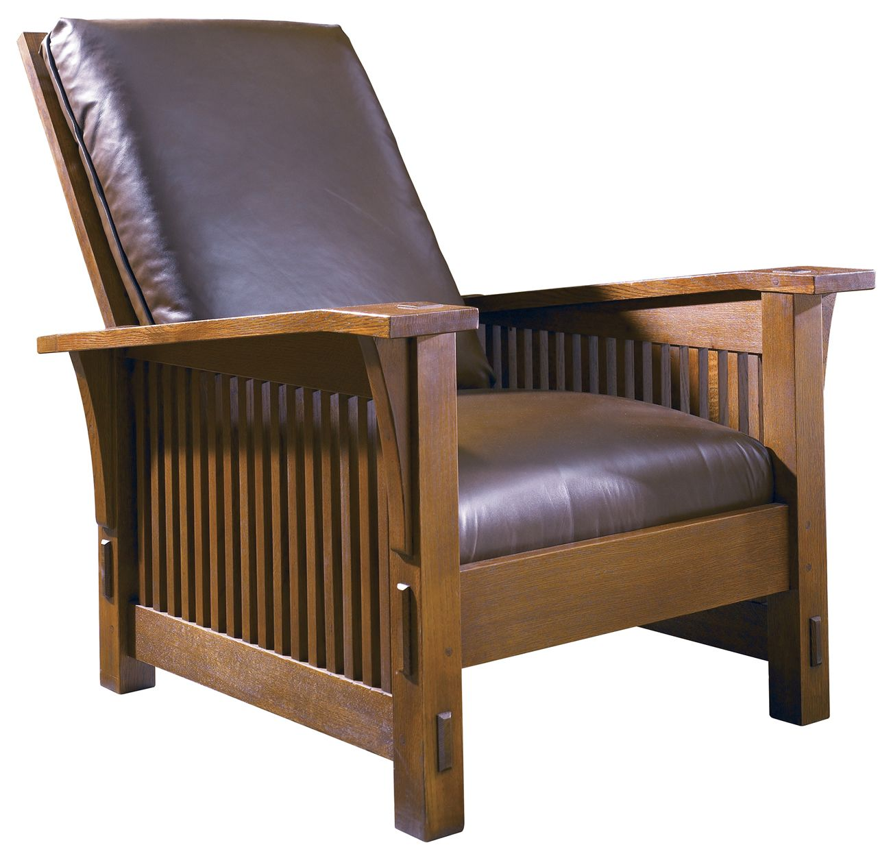 Stickley mission collection spindle morris chair