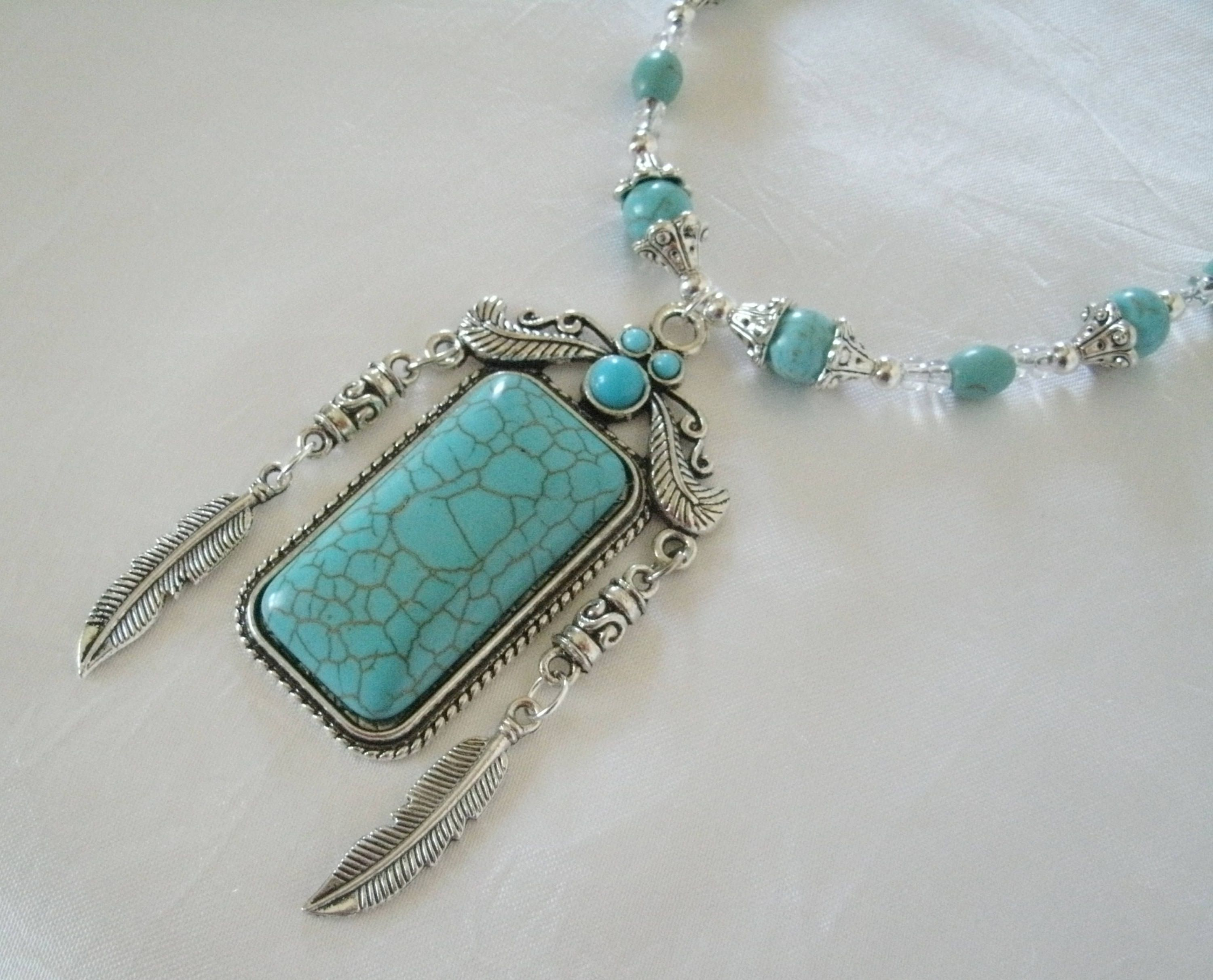 bojo american southwest on etsy jewellery western by native long navajo santafecollection turquoise necklace beaded her jewelry for pin