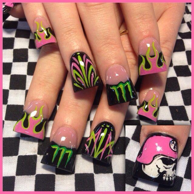 Metal Mulisha Monster - Nail Art Gallery | Nail art | Pinterest ...