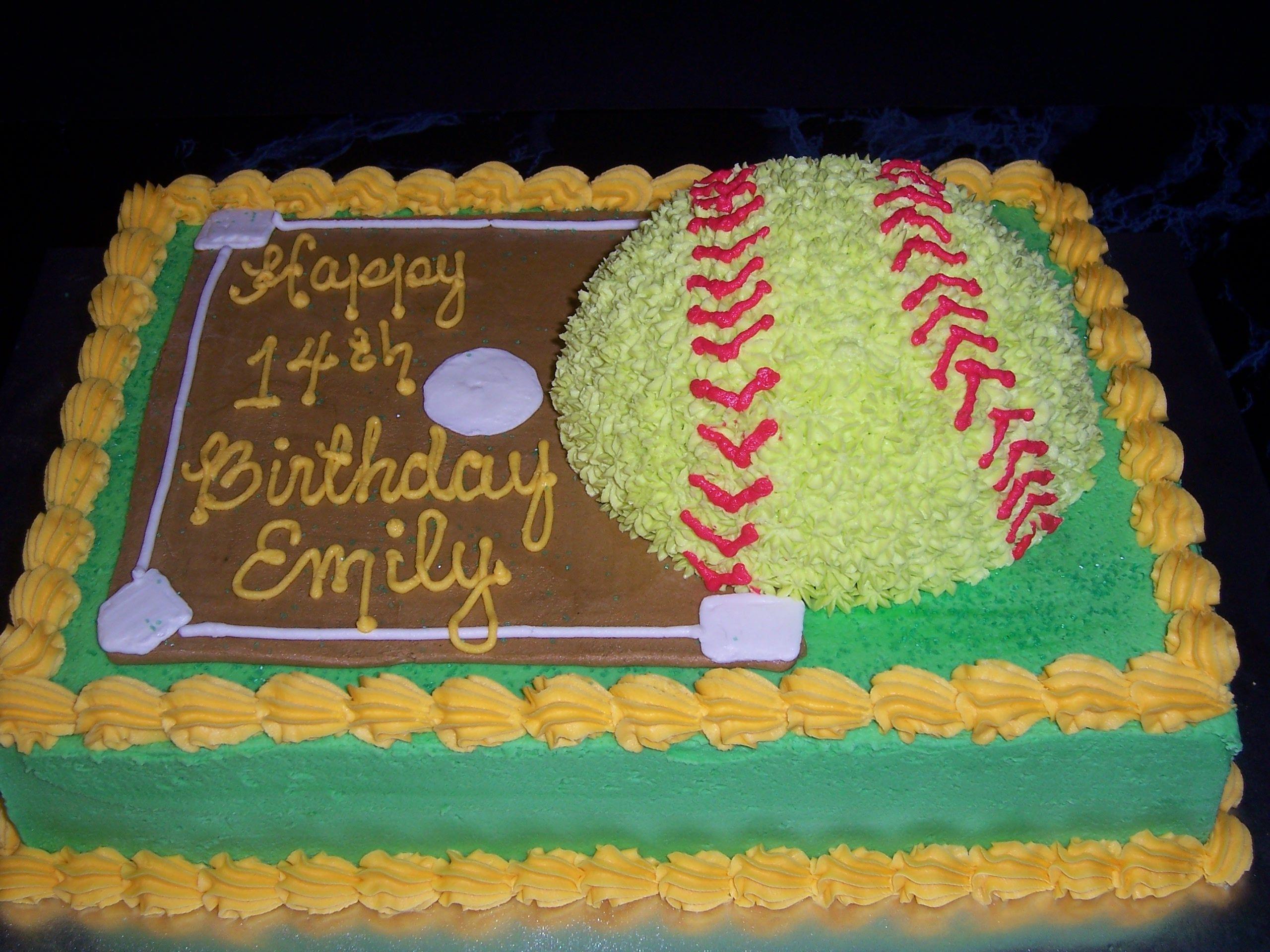 Pleasant Good Softball Cake Design Cakes Verjaardag Mijn Verjaardag Personalised Birthday Cards Paralily Jamesorg