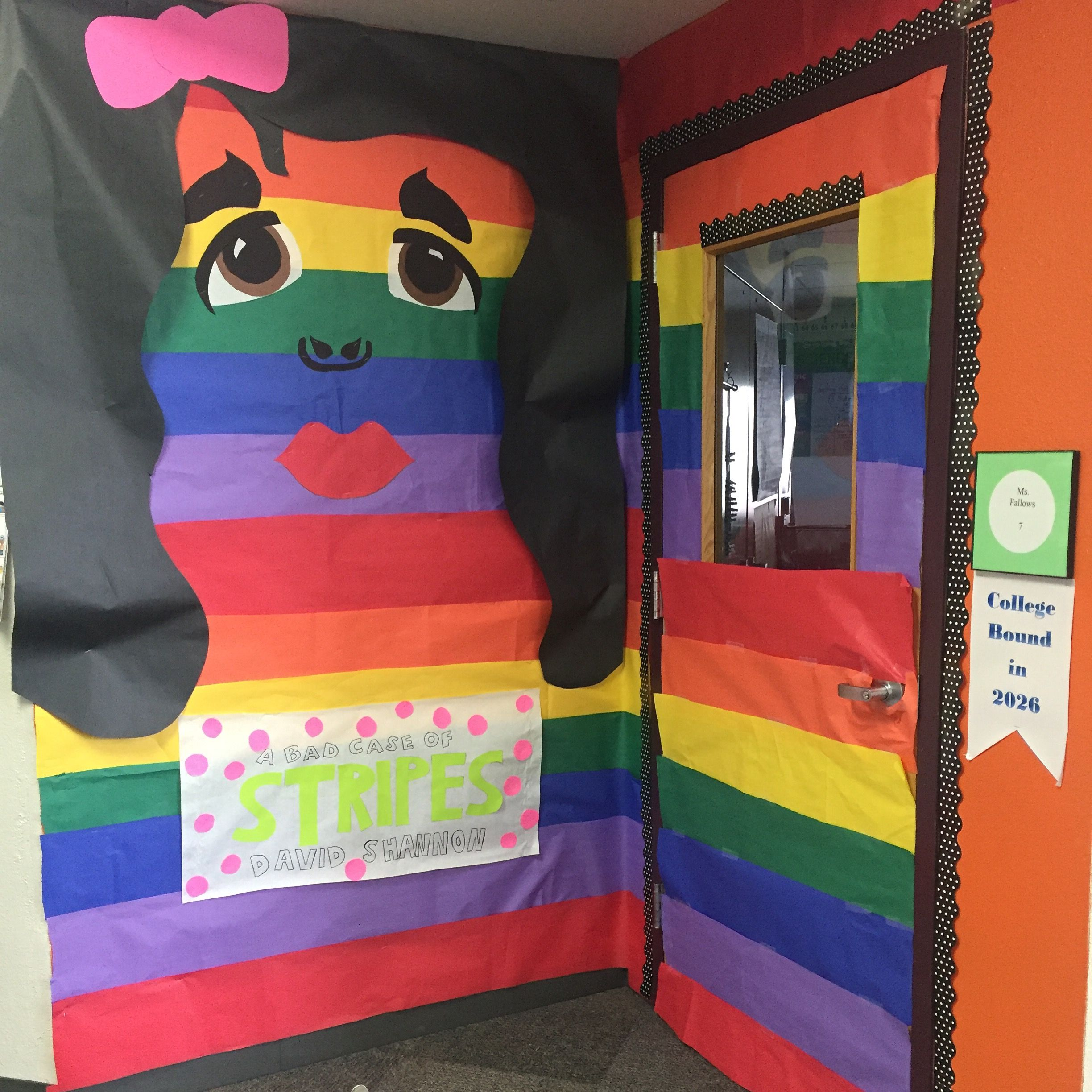 A Bad Case Of Stripes Door For March Is Reading Month