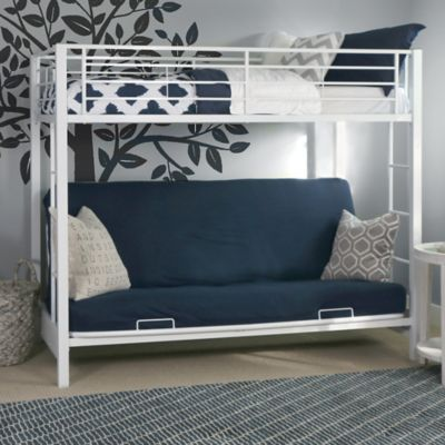 Forest Gate Twin Over Futon Metal Bunk