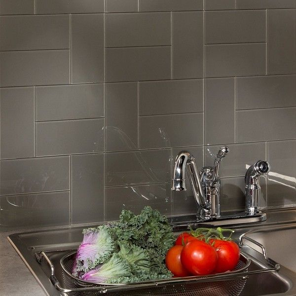 Decorative Tiles For Kitchen Walls Adorable Aspect 3X6Inch Leather Decorative Wall 15Square Foot Kit Design Inspiration