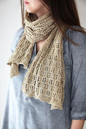 Classic lace stole shared on the LoveKnitting Community