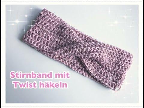 Photo of EINFACHES Stirnband mit TWIST häkeln / super für Anfänger geeignet
