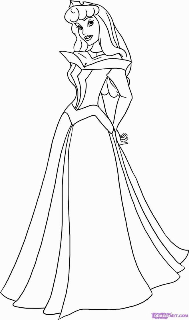 Princess Aurora Coloring Page   Coloring Pages   Pinterest ...