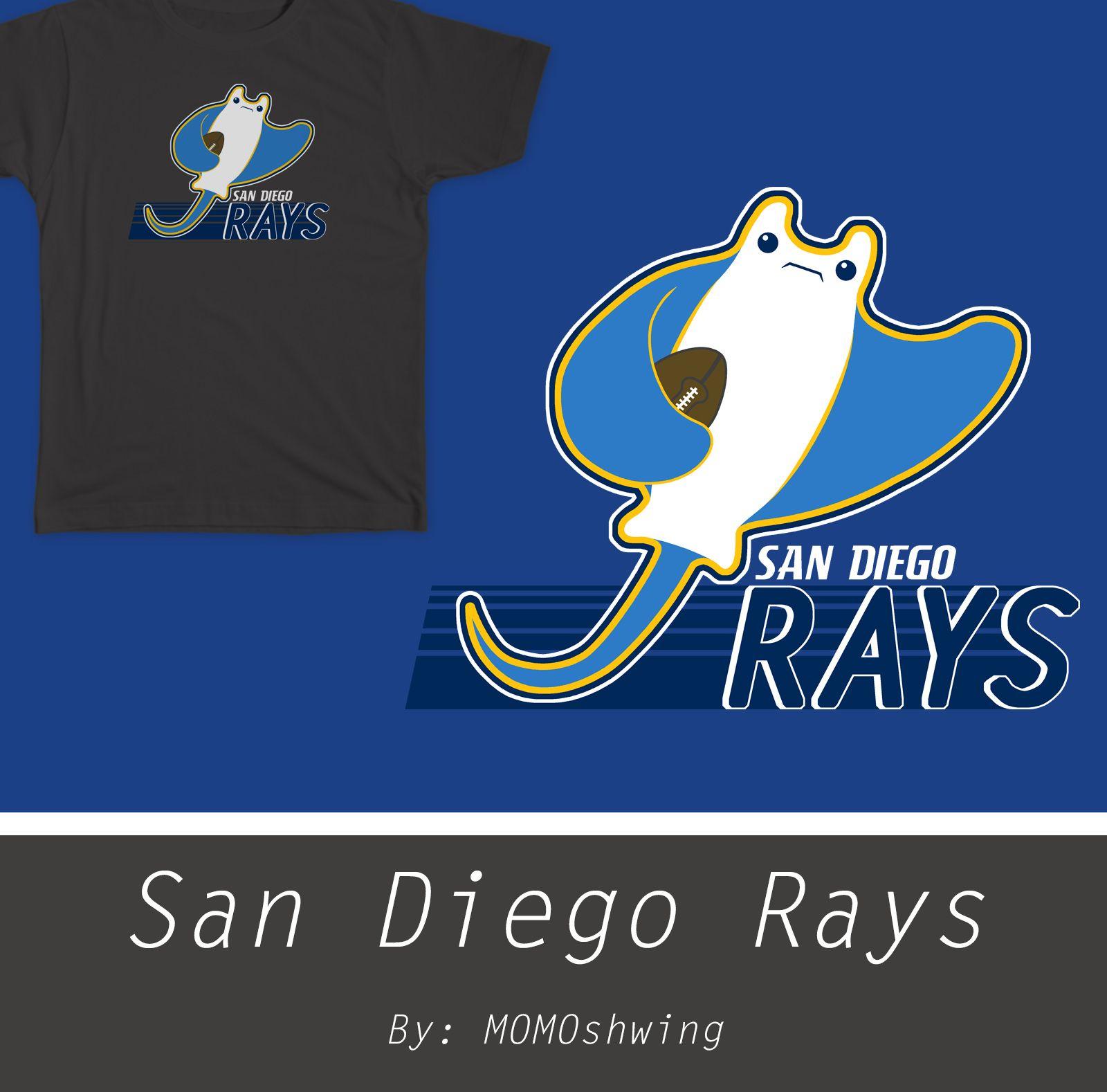 Shirt design san diego - San Diego Rays Nfl Football Fantasyfootball Shirt Design