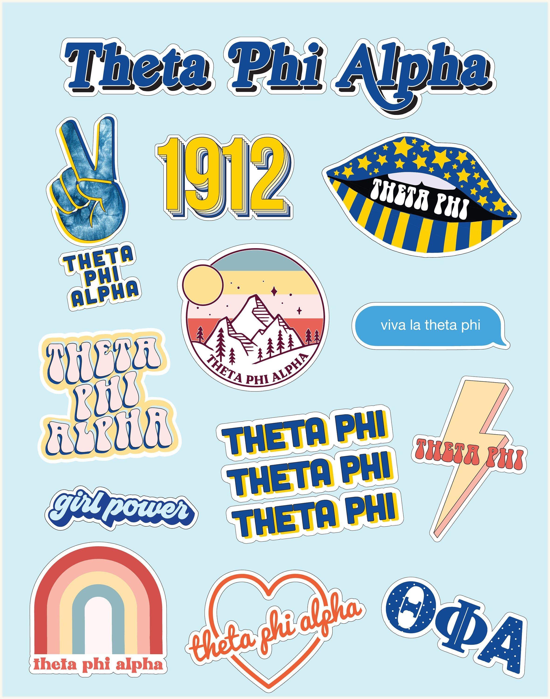 Girl Power Alpha Phi Sticker Sheet