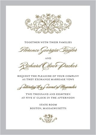 Formally invite guests to celebrate your union with the vintage formally invite guests to celebrate your union with the vintage damask wedding in weddings idea pinterest invitation wording wedding things and stopboris Images