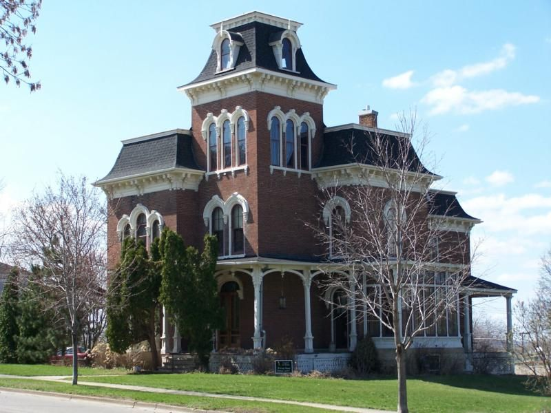 Second Empire Style Homes This Is One Of The Most Prominent Homes In Red Wing Located Just 40 Historical Architecture Scary Houses Historic Homes