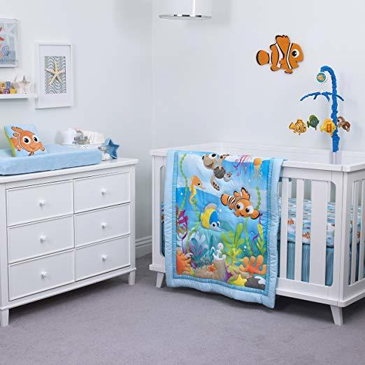 Finding Nemo A Day At The Sea Fitted Crib Sheet by Disney Baby
