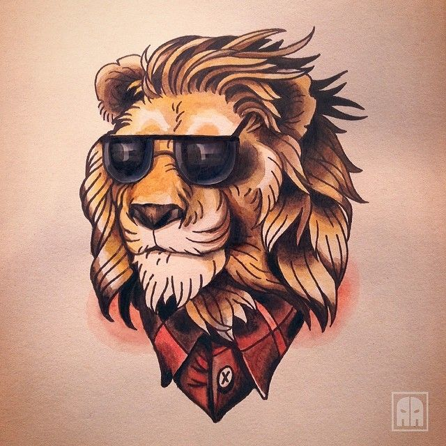 cacc0e2b9 Old School Lion Tattoo tattoo old school / traditional nautic ink ...
