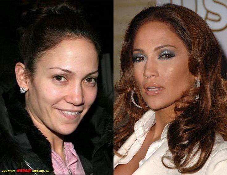 Jennifer Lopez Before and After Makeup Look |Makeup Tutorials http://makeuptutorials.com/23-celebrities-before-and-after-makeup-transformations