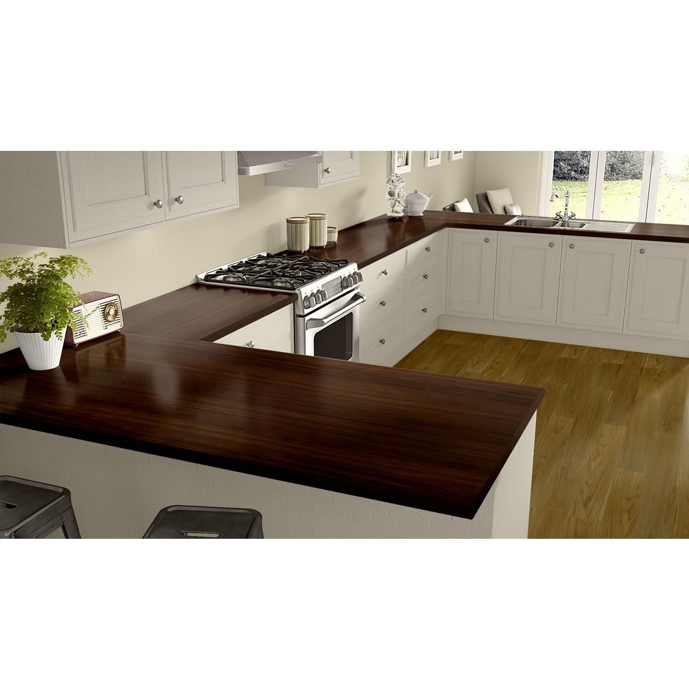 Wilsonart 5 Ft X 10 Ft Laminate Sheet In Columbian Walnut With Premium Textured Gloss Finish 7943k735060120 The Home Depot Laminate Kitchen Countertops Laminate Countertops
