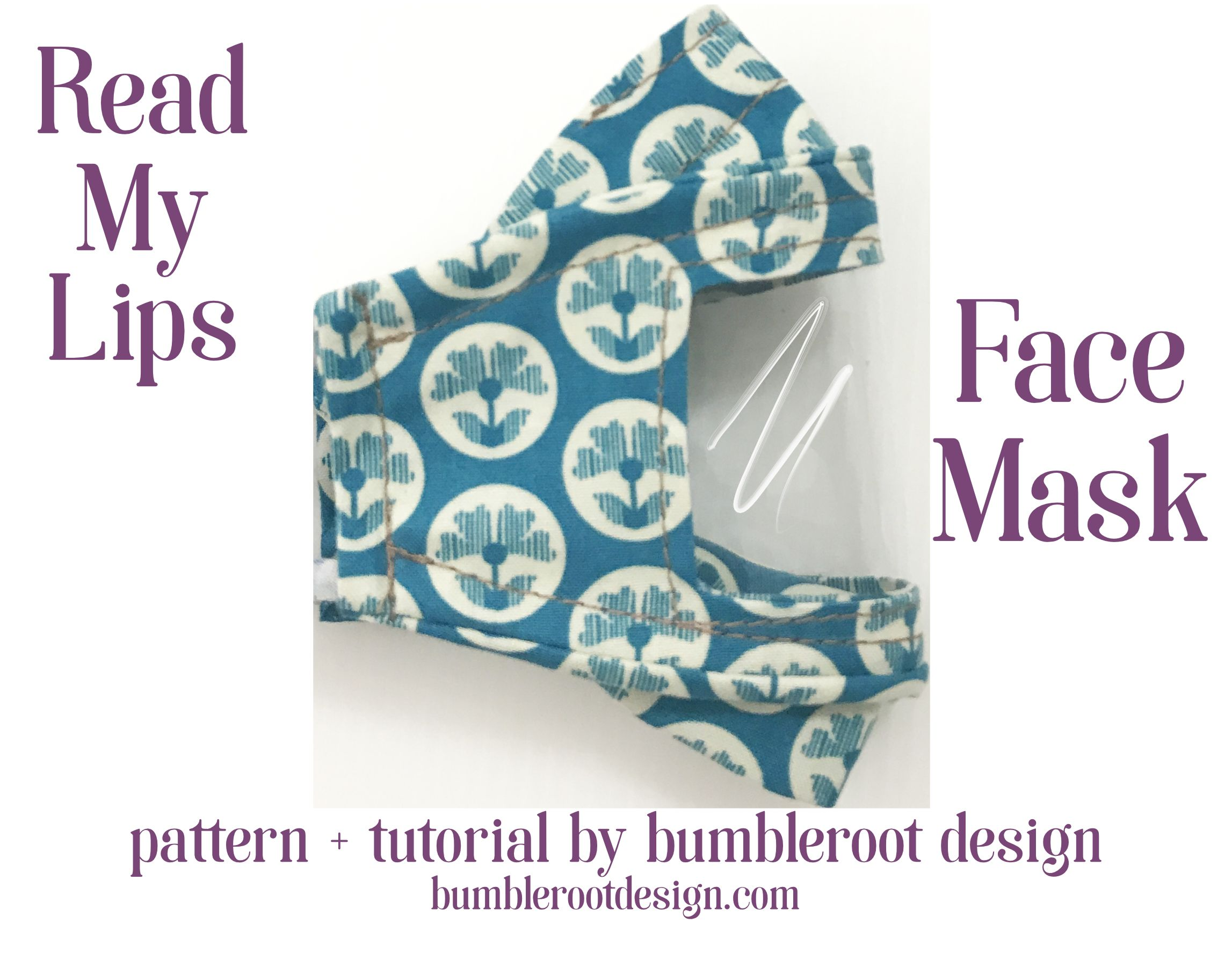 Photo of Read My Lips Face Mask with Window: Tutorial + PDF Download