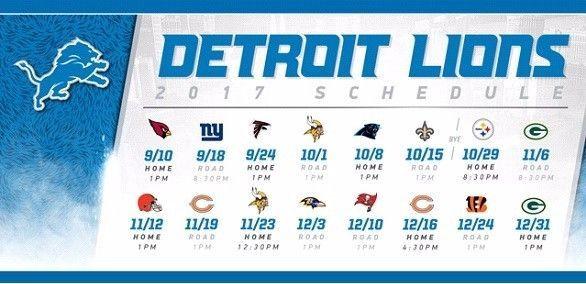 2017 18 Detroit Lions Nfl Football Schedule Season Fridge Magnet Large 6 5 Quot X4 Quot Collec Detroit Lions Wallpaper Detroit Lions Nfl Football Schedule