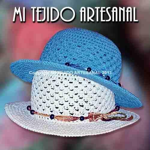 Capelinas al crochet paso a paso - Imagui Sombrero Tejido A Crochet e85174f7710