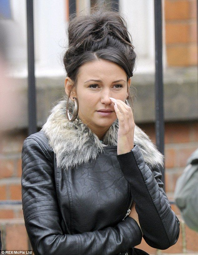 No sign: Michelle Keegan was without her wedding ring as she filmed for Coronation Street in Manchester on Friday