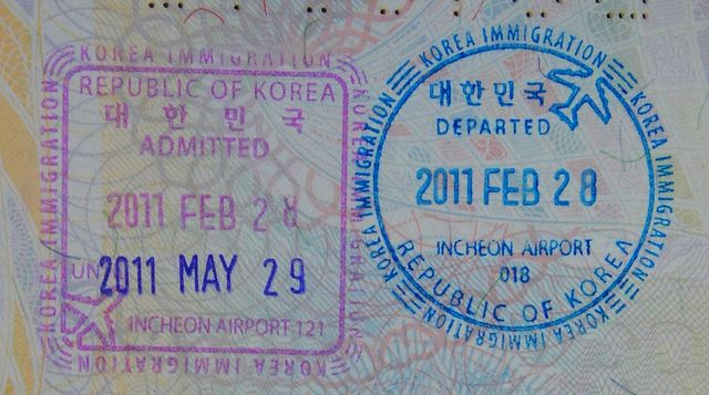 South Korea: stamps | Passport stamps, Stamp, Getting a passport