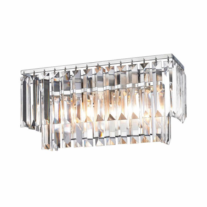 Elk lighting 15211 2 2 light bathroom vanity light with crystal shades from the polished