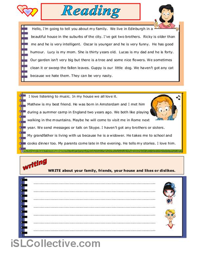 READING AND WRITING worksheet - Free ESL printable worksheets made ...