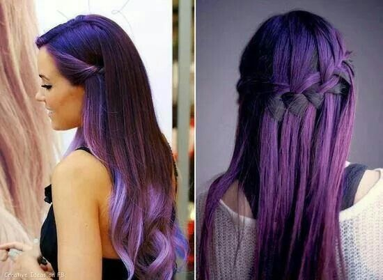 Trenza púrpura