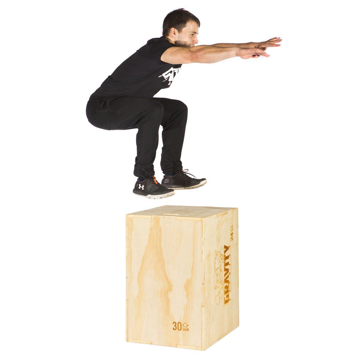 Gravity fitness 3 in 1 30 x 20 x 24 plyometric jump box
