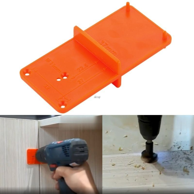 35mm 40mm Hinge Hole Drilling Guide Locator Hole Opener Template Door Cabinets Diy Tool For Woodworking Tool 35mm 40m Diy Tools Tool Sets Woodworking Tools