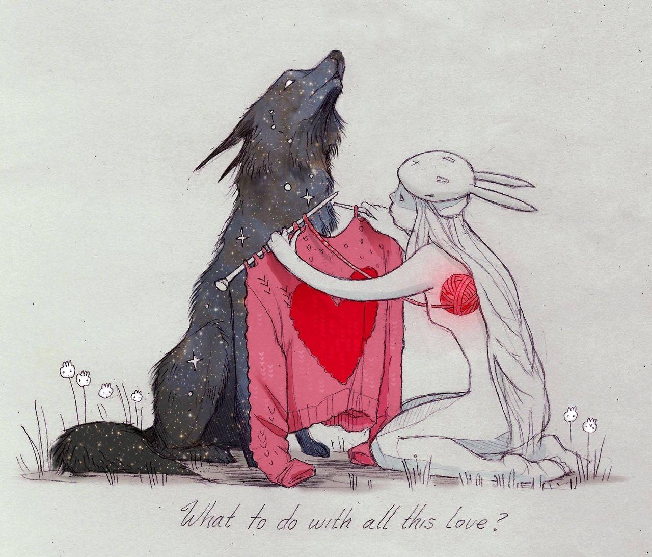 волк и зайка картинки мордовских