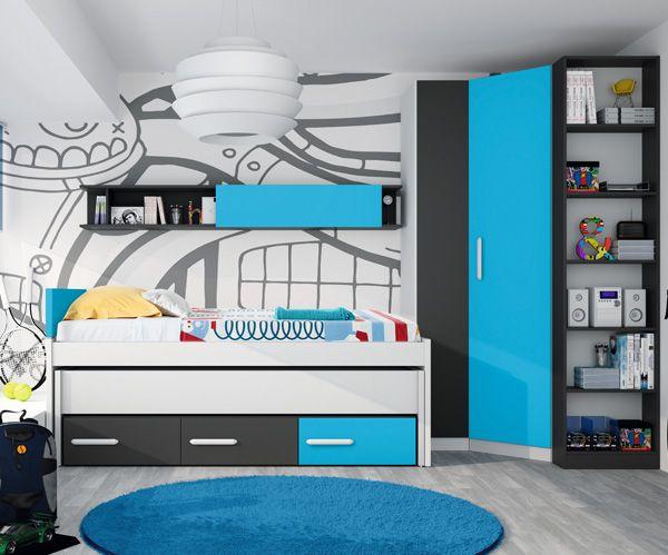 Muebles Tuco compactos camas + cajones para dormitorios juveniles. 1 ...