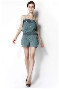 Fashion Jumpsuit with Bowknot