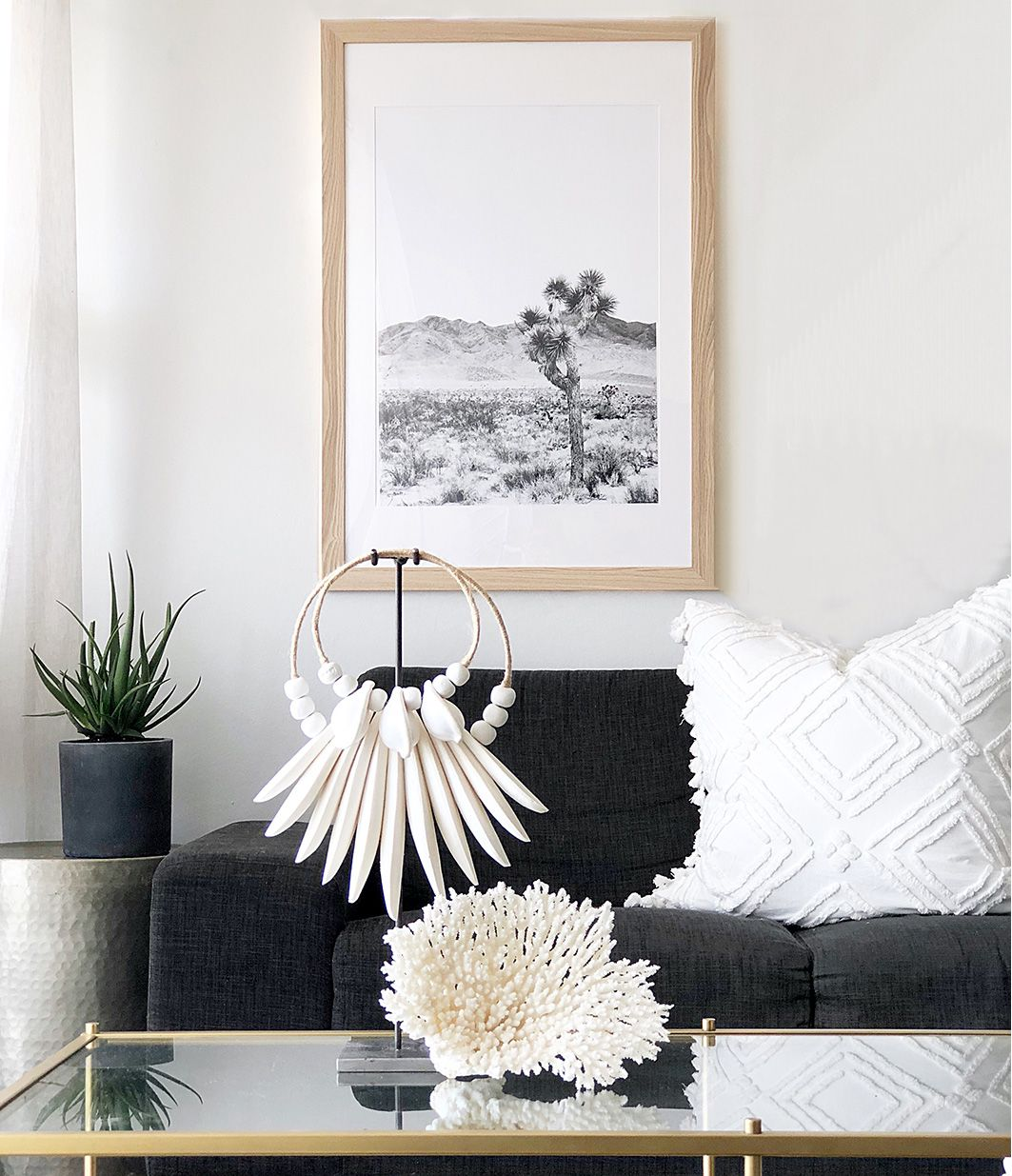 Joshua Tree Print Black And White In 2020 Bohemian Room Decor Boho Living Room White Decor