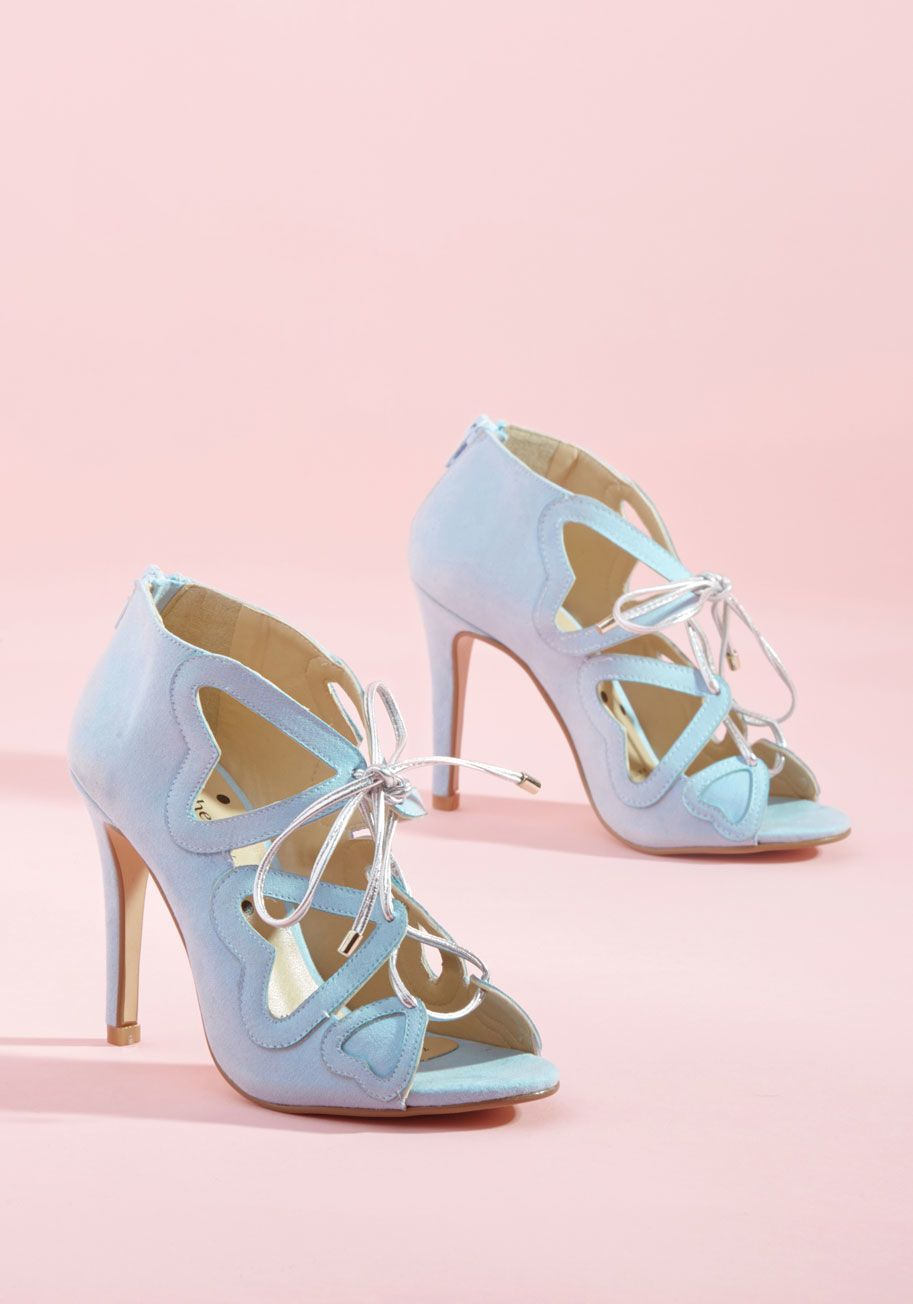 Loly In The Sky Heartbeat You To It Peep Toe Heel In Sky It Matters Not Who Laid Eyes Upon These Light Blue Pumps By Loly In The Sky What